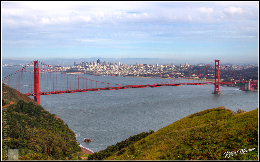 golden gate and city
